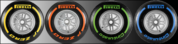 But in Melbourne teams will only be supplied with(From left to right) the Hard, Soft, Intermediate and Wet compound.