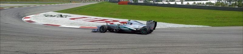 Lewis Hamilton entering Turn 4.