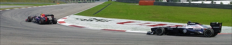 Mark Webber (Left) and Pastor Maldonado (Right)
