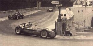 Nino Farina navigates his way through the Station Hairpin, now named the Loews Hairpin during the race. © Unknown