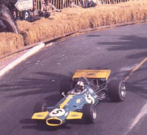 After qualifying fourth, Jack Brabham took advantage of the retirements of Jackie Stewart and Chris Amon to take the lead of the race. © Rainer Nyberg