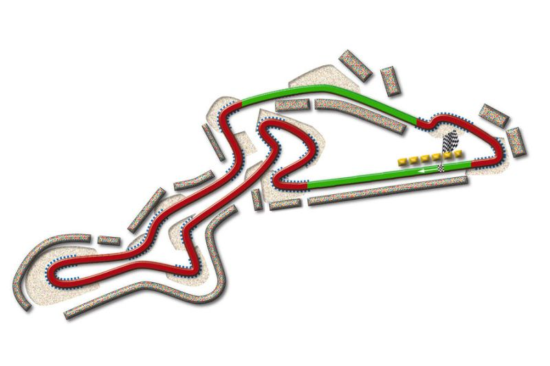 DRS will be available to drivers between turns 16 and one, as well as between turns 12 and 14. © auto-motor-und-sport.de