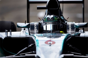 Flying high: Mercedes covered more laps than anybody throughout the week. ©2014 MERCEDES AMG PETRONAS Formula One Team