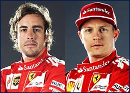 Fernando Alonso 14, Kimi Raikkonen 7