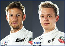 Jenson Button 22, Kevin Magnussen 20